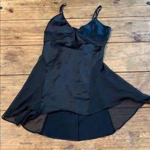Victoria's Secret Black Silk and Chiffon Nightgown